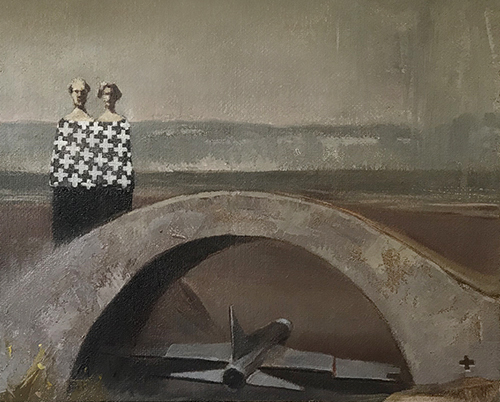 The Blind destructor, 2020, oil on canvas, 42 x 31 cm