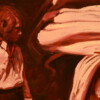 Detail -The Alchemy. oil on canvas thumbnail