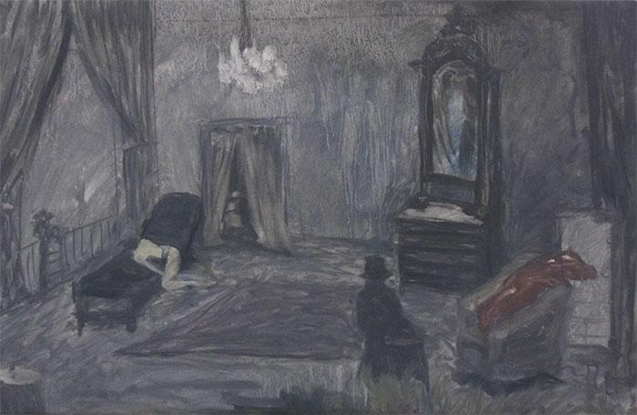 The White skin pet, 40 x 28 cm, oil on canvas,  2019