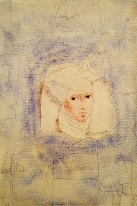 Untitled, 2020, tempera on paper, 30 x 21 cm
