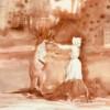 The nurse and kangaroo, 2020, tempera on paper, 30 x 21 cm thumbnail