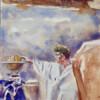 Partisan beyond milky way, 2020, tempera on paper, 30 x 21 cm thumbnail