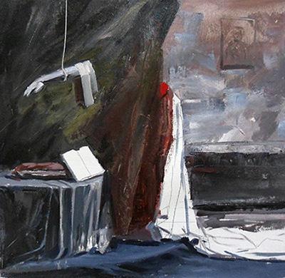 SACRUM, 2019, oil on canvas, 40 x 48 cm