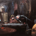 EXAMINATION ROOM, 75 X 62 cm, oil on canvas, 2019 thumbnail