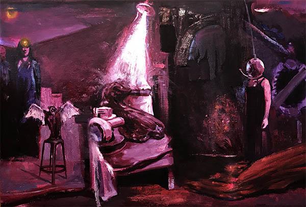 RANDOM TAXONOMY, 2019, oil on canvas, 76 x 50 cm