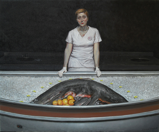 THE FISHMONGER,  60 x 50 cm, oil on canvas, 2010