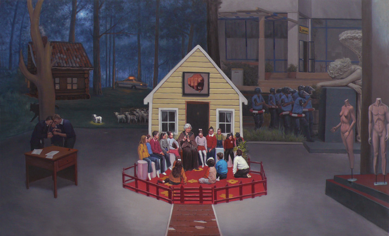 A FEIRYTALE FROM 1997,  2009, oil on canvas, 230 x 140 cm