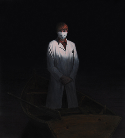 THE NURS, 100 x 110 cm, oil on canvas, 2012