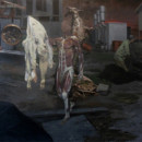 OPTION OUT OF TABLE, 2012, oil on canvas, 250 x 140 cm thumbnail