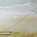 CROSSING THE FLAG, watercolor on paper, 20 x 10 cm, 2017 thumbnail
