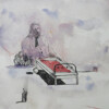 CROSSING THE FLAG, watercolor on paper, 20 x 18 cm, 2017 thumbnail