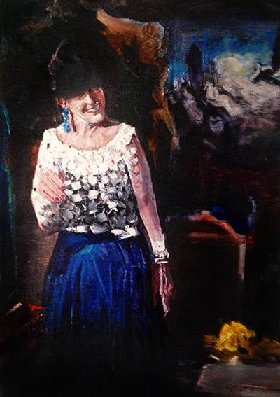 THE LITTLE BOTTLE, 2020,  oil on canvas, 60 x 40 cm