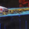 A PARADIGM REPLICA, detail, oil on canvas, 190 x 110 cm, 2020 thumbnail