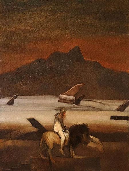 HIGH HOPES, 2020,  oil on canvas, 53 x 35 cm,