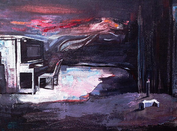 SARA'S PARTITURE, 2020, oil on canvas, 40 x 32 cm