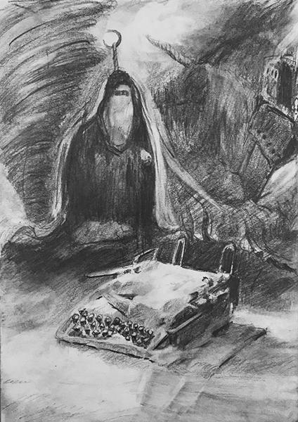 UNRECORDET SEASON, 21 X 15 cm, pencil on paper, 2020